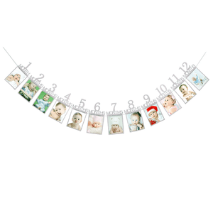 Baby's 1st Birthday Photo Frame Silver Photo Frame