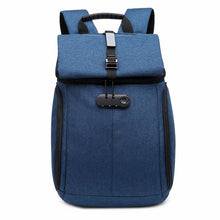 Load image into Gallery viewer, Backpacks Blue Password Lock Backpack