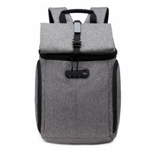 Load image into Gallery viewer, Backpacks Grey Password Lock Backpack