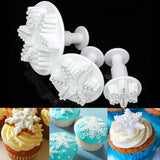 Baking & Pastry Tools Snowflake Butterfly Plunger - Cutter Sets