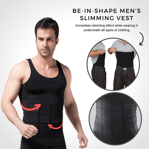 Be-In-Shape Men's Slimming Vest Black / S Slimming Vest