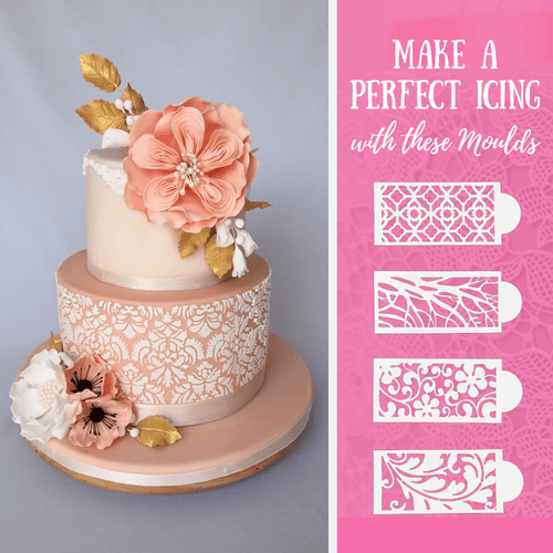 Beautifully Embossed - Cake Lace Mold (7 pcs set) Baking & Pastry Tools