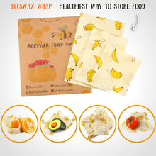 Load image into Gallery viewer, BEEfresh ECO Food Wrap Covers (3 pcs set) Banana Food Wrap