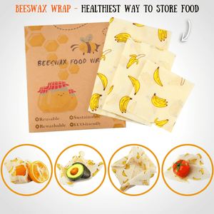 BEEfresh ECO Food Wrap Covers (3 pcs set) Banana Food Wrap