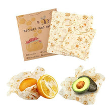 Load image into Gallery viewer, BEEfresh ECO Food Wrap Covers (3 pcs set) Flower Food Wrap