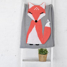 Load image into Gallery viewer, Blanket & Swaddling Fox Stark Baby Knitted Blanket