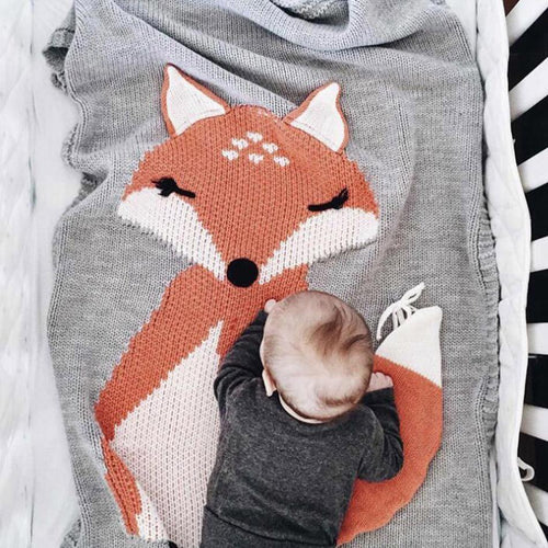 Blanket & Swaddling Fox Stark Baby Knitted Blanket