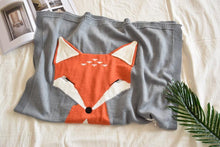 Load image into Gallery viewer, Blanket & Swaddling Grey Fox Stark Baby Knitted Blanket