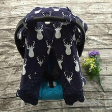Load image into Gallery viewer, Blanket & Swaddling Navy deer Cute Prints Baby Car Seat Cover