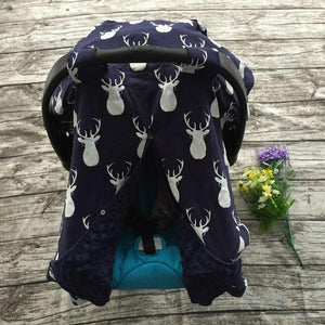 Blanket & Swaddling Navy deer Cute Prints Baby Car Seat Cover