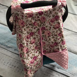 Blanket & Swaddling Rose Cute Prints Baby Car Seat Cover