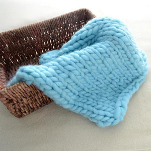 Blankets blue / 60x60cm Super Chunky Knit Blanket