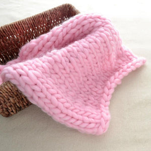 Blankets pink / 60x60cm Super Chunky Knit Blanket