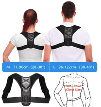 Load image into Gallery viewer, Body Fit Adjustable Posture Corrector Large Braces & Supports
