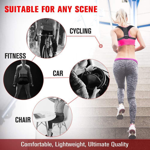 Body Fit Adjustable Posture Corrector Medium Braces & Supports