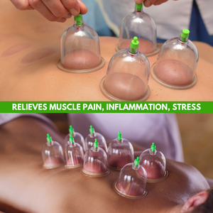 Body Relief - Vacuum Cupping Therapy Set (14 pcs set) Massage & Relaxation