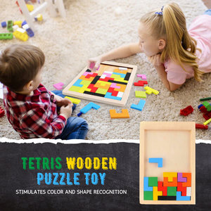 Brain Enhancer - Tetris Wooden Toy Set Wooden Toy