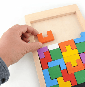 Brain Enhancer - Tetris Wooden Toy Wooden Toy