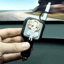 Load image into Gallery viewer, Button recall - 2 in 1 Car Retractable Charger Retractable Charger