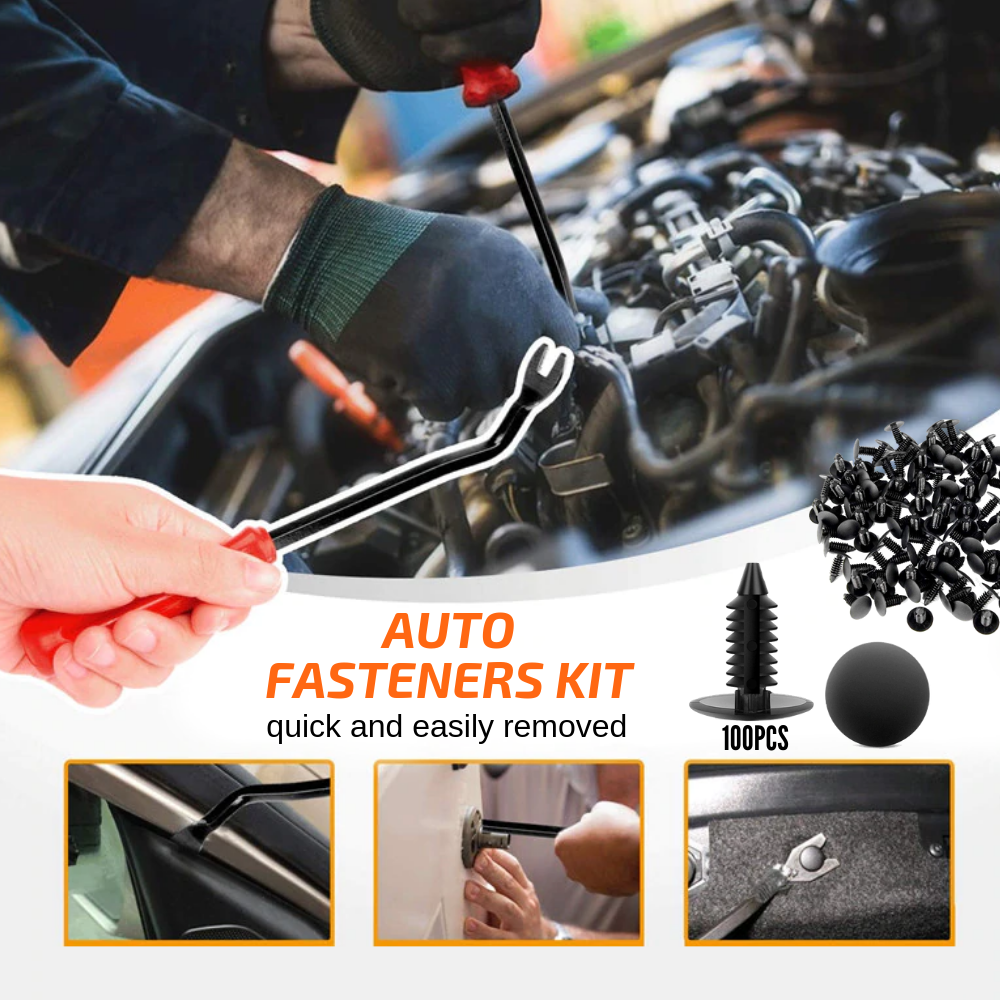 Car Master Fixer - Auto Fasteners Kit 100 pcs set Auto Fastener & Clip