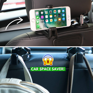 Carpus - 2in1 Multi-functional Car Headrest Hook (2 pcs) Hook
