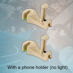 Carpus - 2in1 Multi-functional Car Headrest Hook (2 pcs) Beige / with a phone holder (no light) Hook