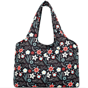 Carry-all Shoulder Bag Artistic Flower Top-Handle Bags