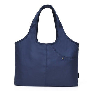 Carry-all Shoulder Bag Blue Top-Handle Bags