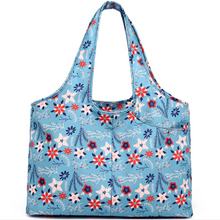 Load image into Gallery viewer, Carry-all Shoulder Bag Breezy Blue Top-Handle Bags