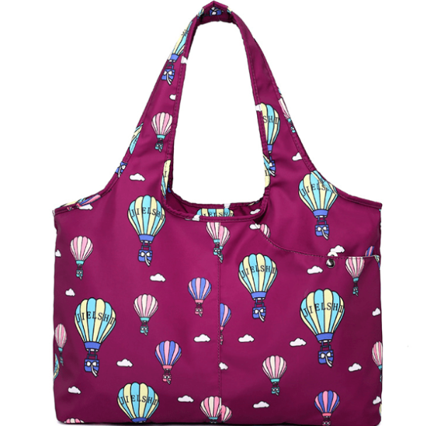 Carry-all Shoulder Bag Pink Air Balloon Top-Handle Bags