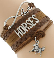 Load image into Gallery viewer, Chain & Link Bracelets Brown Horse Lover's Infinity Bracelet