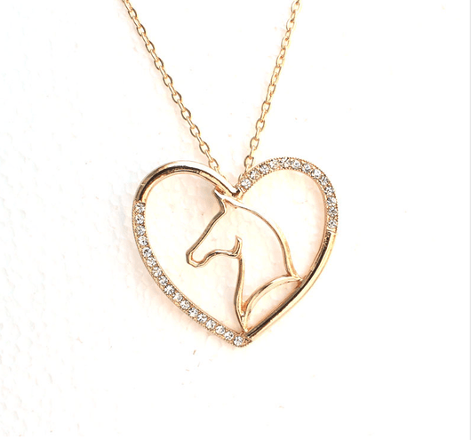 love in shaped grande inlaid mom pendant or products gold available crystal silver heart necklace