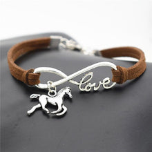 Load image into Gallery viewer, Charm Bracelets Dark brown Horse Simple Infinite Horseshoe Bracelet