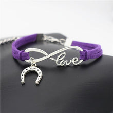Load image into Gallery viewer, Charm Bracelets Purple Simple Infinite Horseshoe Bracelet