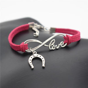 Charm Bracelets Rose Simple Infinite Horseshoe Bracelet