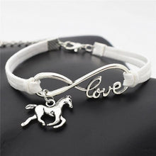 Load image into Gallery viewer, Charm Bracelets White Horse Simple Infinite Horseshoe Bracelet