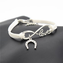 Load image into Gallery viewer, Charm Bracelets White Simple Infinite Horseshoe Bracelet