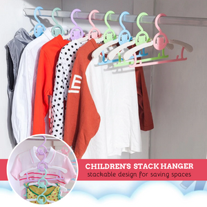 Children's Telescopic Stack Hanger (5 pcs set) Pink Hangers & Racks