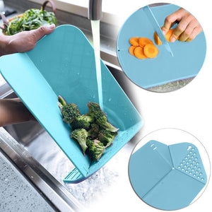Chop&Rinse Chopping Board Blue Chopping Board