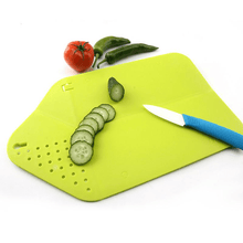 Load image into Gallery viewer, Chop&Rinse Chopping Board Green Chopping Board