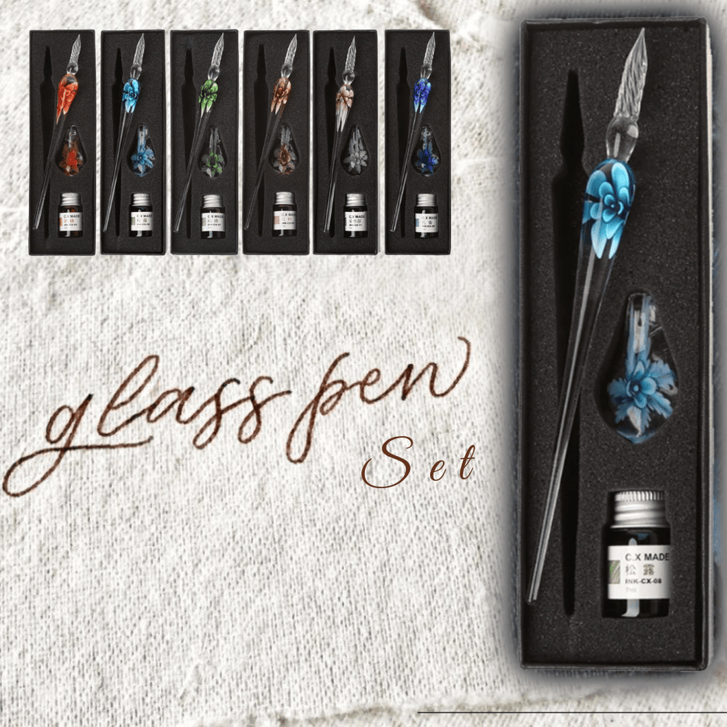 Classic Artist - Glass Calligraphy Pen (3 pcs set) Light blue Painting & Calligraphy