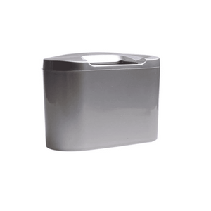 Clip-on Car Trash Can Silver Car Trash Can