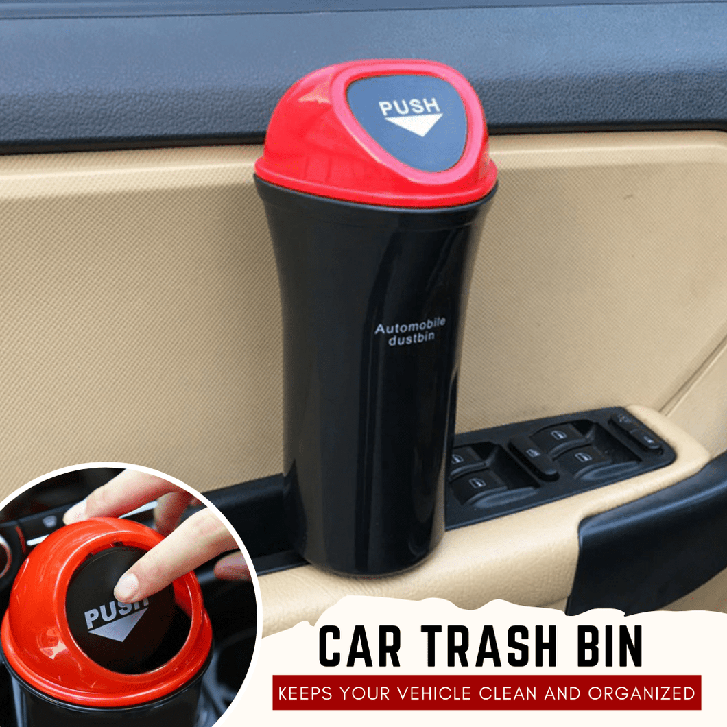 Clip On-the-Go - Car Trash Bin Red Car Trash Can