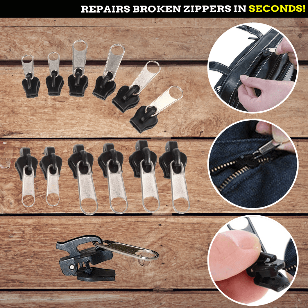 Clip & Zip Quick Fix® - Instant Zipper Set 6 pcs set Zipper Sliders