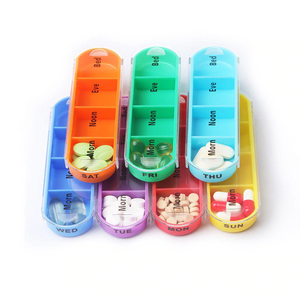 Colorful Pill - Weekly Medicine Organizer Pill Cases & Splitters