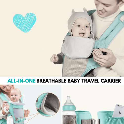 Comfort Carry Baby Travel Carrier Green Baby Carrier