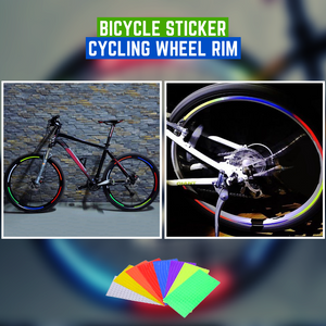 Cool Cycling - Bicycle Wheel Rim Bicycle Stickers