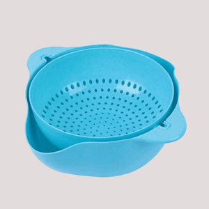 Cover & Drain - 2 in 1 Drain Basket Blue Drain Basket
