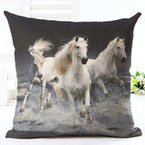 Cushion Cover 14 Running Horse Cotton Linen Pillowcase