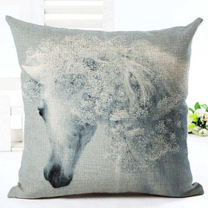 Cushion Cover 15 Running Horse Cotton Linen Pillowcase